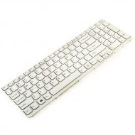 Tastatura Laptop Sony Vaio SVE15 alba cu rama