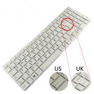 Tastatura Laptop Toshiba Satellite L50-B alba layout UK
